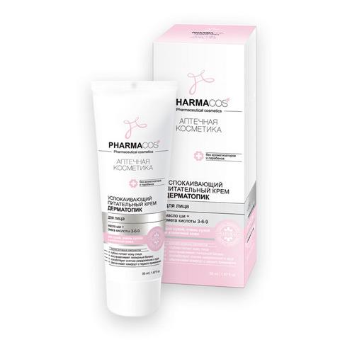 Витэкс Pharmacos Успокаивающий питательный крем дерматопик для сухой, очень сухой и атопичной кожи лица 50 мл