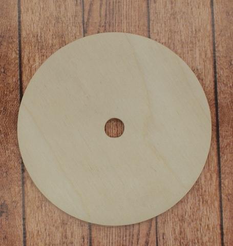 055-6928 Круг деревянный с отверстием, 9 см