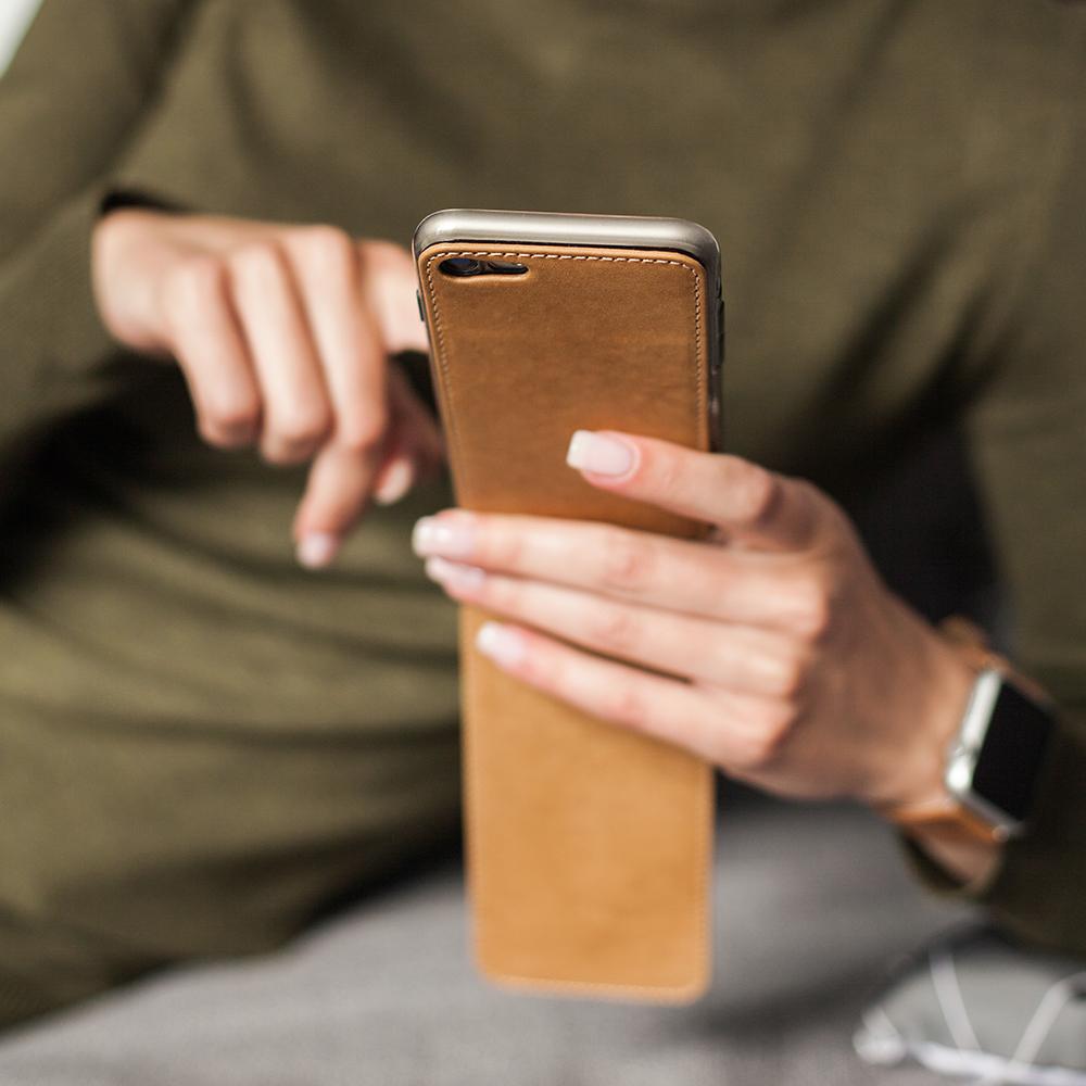 Чехол для iPhone SE/8 из натуральной кожи теленка, цвета винтаж