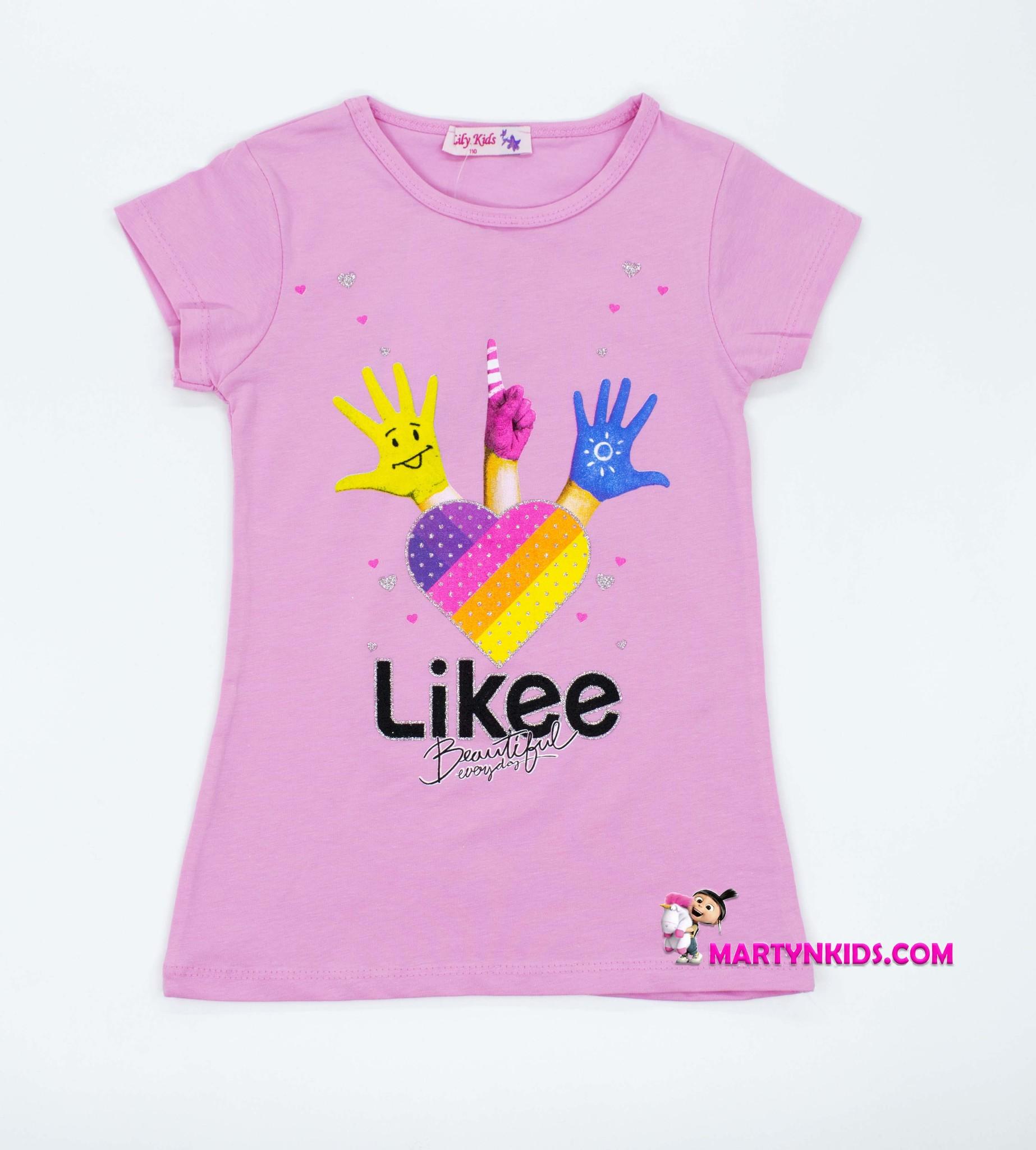 2736  футболка Likee ручки