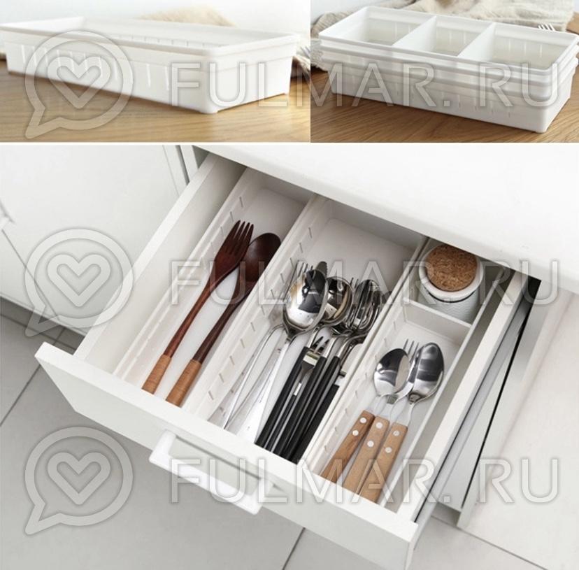 Универсальный органайзер для дома, регулируемые отсеки в ящике (1 штука) фото