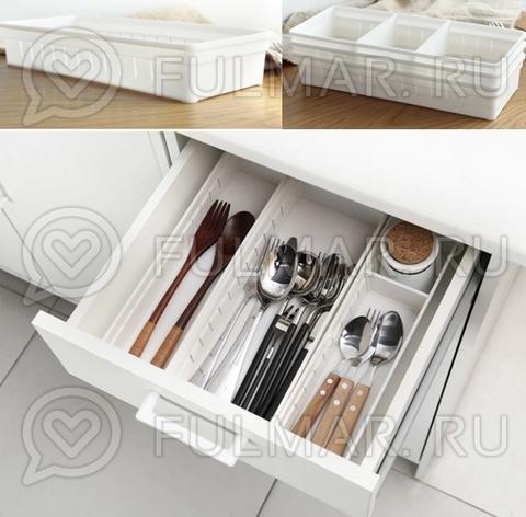 Универсальный органайзер для дома, регулируемые отсеки в ящике (1 штука)