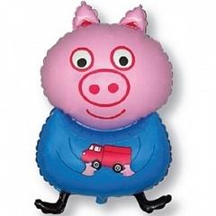 F Мини фигура Поросенок с игрушкой, Голубой, 1 шт. (14