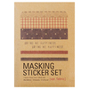 Masking Sticker Set Fabric (kraft)