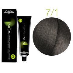 L'Oreal Professionnel INOA 7.1 (Блондин пепельный) - Краска для волос