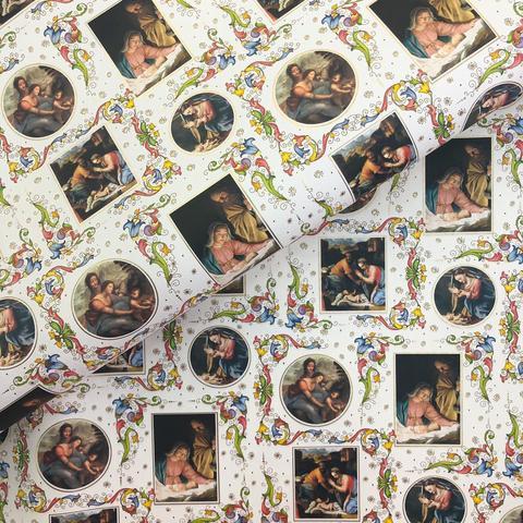 Бумага подарочная упаковочная Святое семейство (Италия)