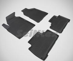 Резиновые коврики для Actyon, высокий борт