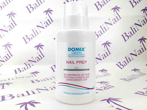 DOMIX Green, NAIL PREP 2 в 1 Обезжириватель ногтевой пластины и средство для снятия липкого слоя с ПОМПОЙ, 255 мл