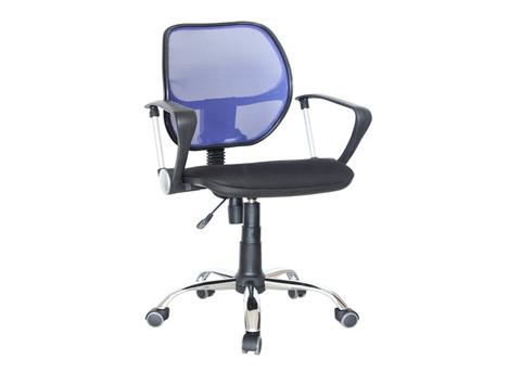 Кресло компьютерное Марс new PC 900 комфорт Дик хром сетка синяя/черная