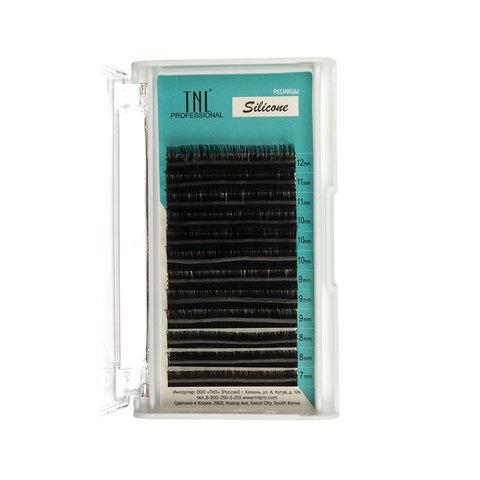 Ресницы на ленте TNL силиконовые 0,07 (в упаковке № 7,8,9,10,11,12) C-изгиб