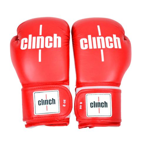 Перчатки боксерские Clinch fight красные