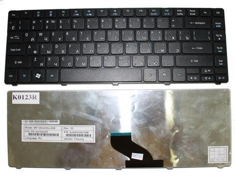 Клавиатура для ноутбука Acer Aspire Timeline 3810T 3820T 3410T 4810T 4410T 4535 4736 4736Z 4736G 4741G 4741Z 4741ZG 4935 E-Machines D640 Series Black