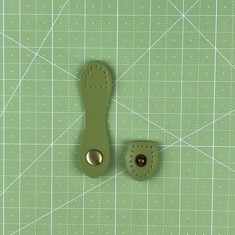 Ремешок для кошелька на кнопке 9 см. (Зеленый)