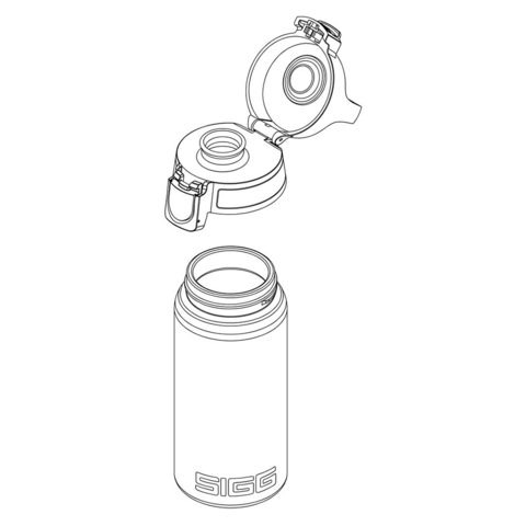 Бутылка для воды Sigg Total Clear One (0,5 литра), серо-розовая