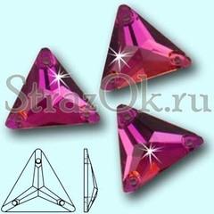 Стразы пришивные Треугольники Фуксия ,Vitrail Fuchsia, Triangle купить оптом