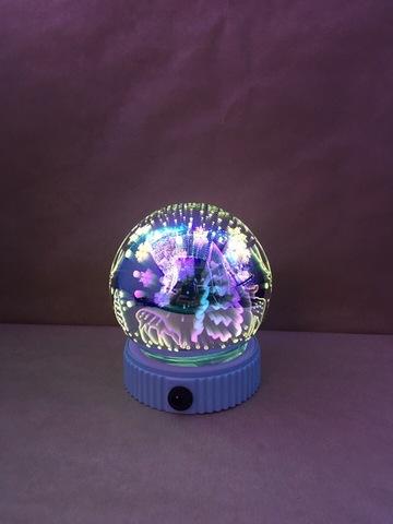 Новогодний 3D светильник