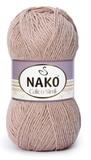 Пряжа Nako Calico Simli пыльная роза 11220