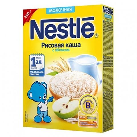 Nestlé® Молочная рисовая каша с яблоком