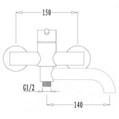 Смеситель KAISER Merkur 26055 для ванны схема