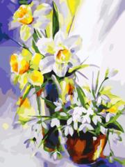 Весенний натюрморт- раскраски  по номерам