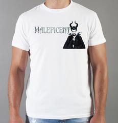 Футболка с принтом Малефисента, Анджелина Джоли (Maleficent ) белая 004