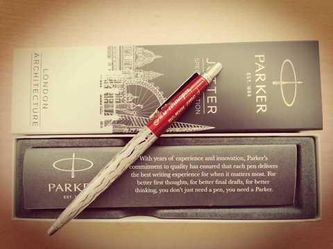 Пример № 1 (Шариковая) /  / Ручка: Parker Jotter / Место нанесения: № 4 / Шрифт: Cassandra / Артикул: 2025827