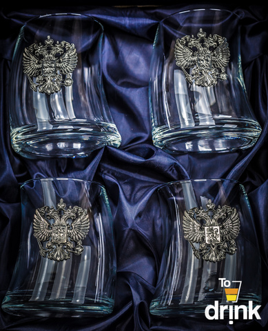 Подарочный набор стаканов для виски «Русский мамонт»