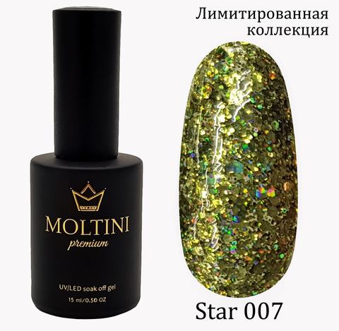 Гель-лак Moltini Premium STAR 007, 15 ml
