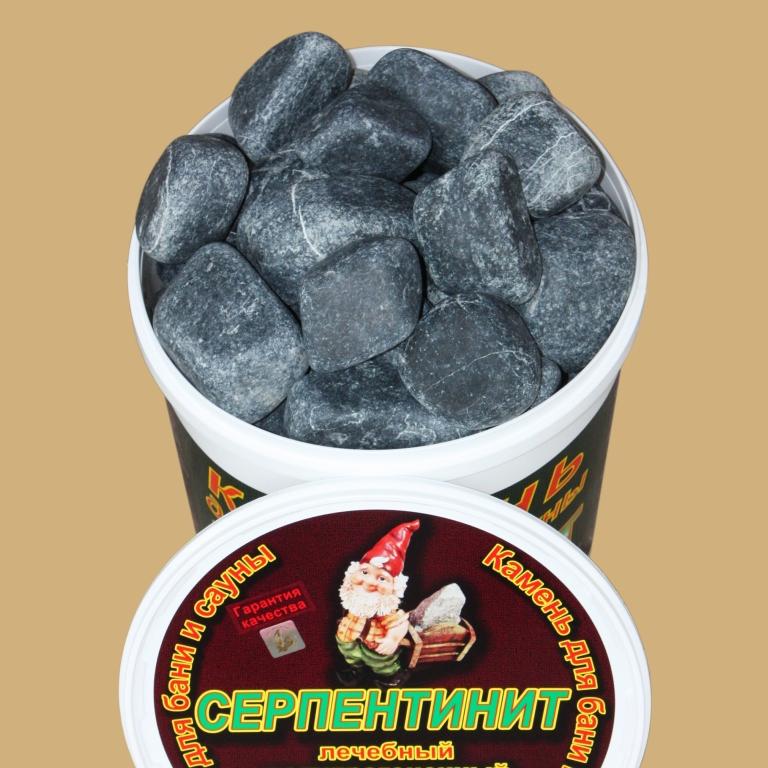 Камень серпентинит шлифованный 20 кг., фото 1