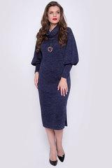 """<p>Это платье создано для эффектных и уверенных в себе женщин. Мягкая структура ткани отлично сочетается с выбранным фасоном. Прямой силуэт и пышные рукава на высоком манжете удачно подчеркнут Вашу безупречную фигуру. Ворот """"хомут"""", по бокам разрезы. (Пояс в стоимость не входит) Длина платья 115 см</p>"""