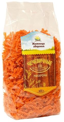 Макароны Чечевичные Спирали, 400 гр. (Житница Здоровья)