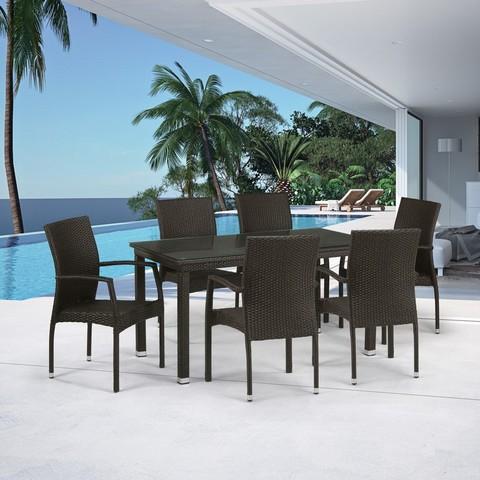 Комплект плетеной мебели T256A/Y379A-W53 Brown 6Pcs