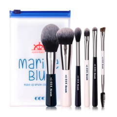 Набор кисточек CORINGCO Marine Blue 6P Make-Up Brush Collection