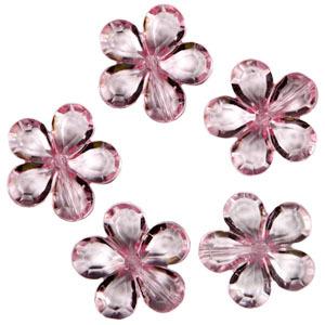 Декоративные бусины Цветы розовые 2,1см 20шт