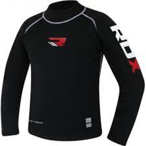 Рашгард RDX Fight MMA X3 Rash Guard T-Shirt Black