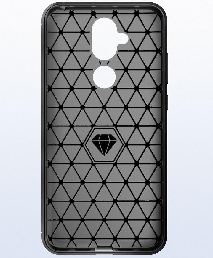 Чехол Nokia 8.1 (X7) цвет Black (черный), серия Carbon, Caseport