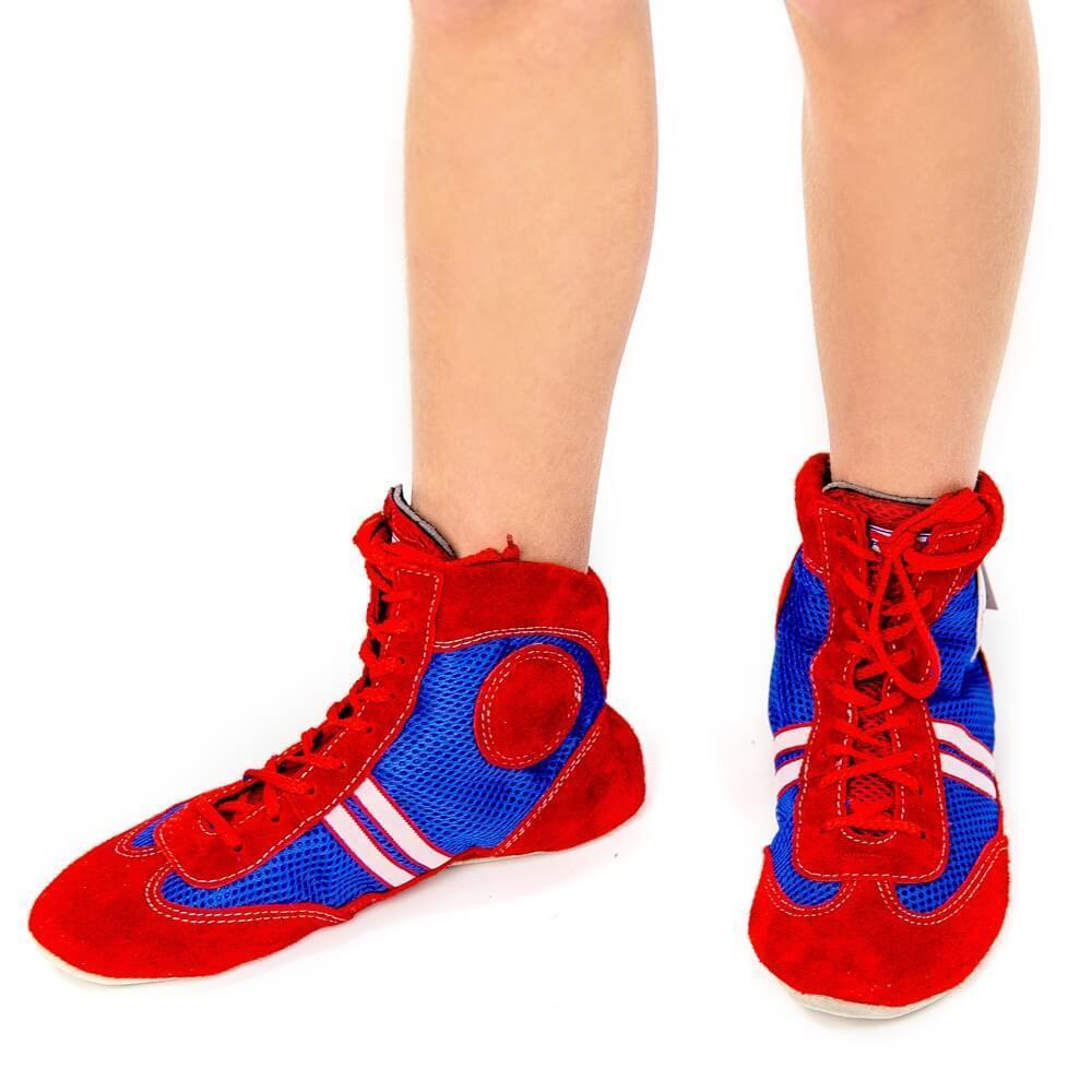"""Обувь Борцовки """"Атака"""" комбинированные красно-синий Snd65gYY17A.jpg"""
