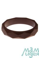 Молочный браслет из пищевого силикона МАМидея коричневый