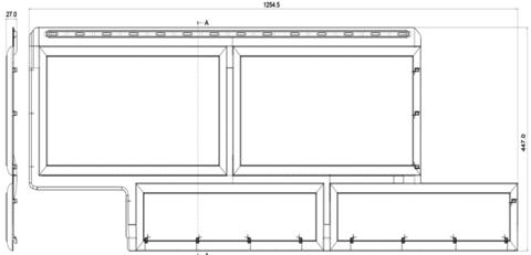 Фасадная панель Альта Профиль Камень флорентийский коричневый 1250х450 мм