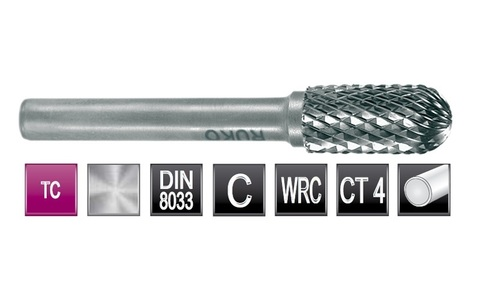 Бор-фреза твердосплавная C(WRC) 8,0х16x6x56мм HM Ruko 116021