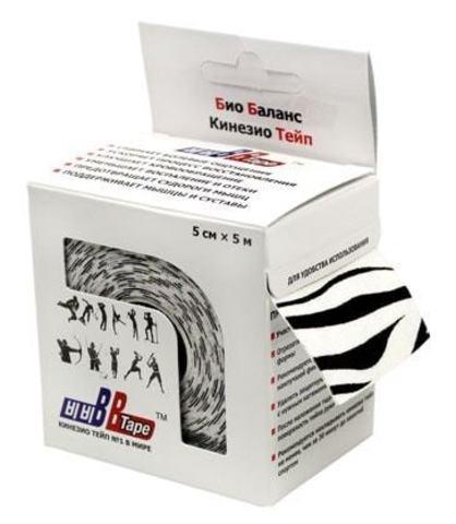 BBtape кинезио тейп 5см х 5м С рисунком зебра