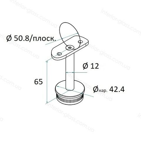 Верхний элемент стойки D=42,4 мм ST-422 с ложементом