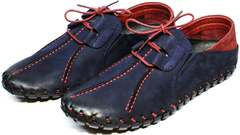 Молодежные туфли мужские синего цвета Luciano Bellini 23406-00 LNBN.