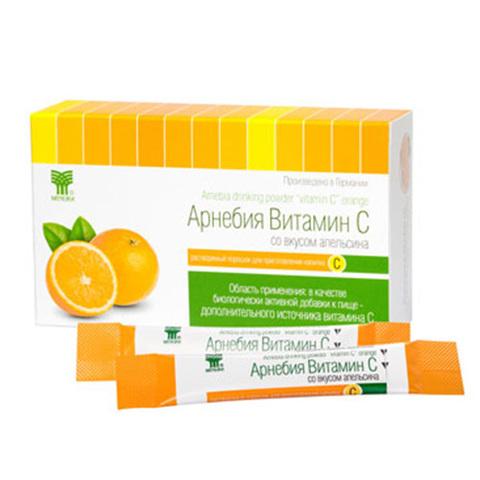 АРНЕБИЯ витамин С со вкусом апельсина, растворимый порошок для приготовления напитка (10 шт в упаковке)