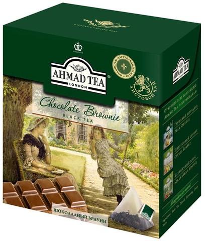 Чай черный Ahmad Шоколадный брауни 20 пирамидок