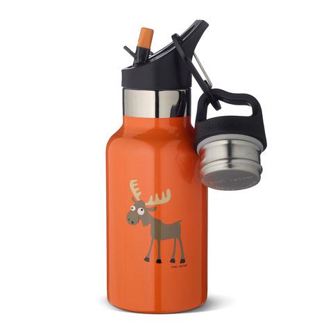 Детская термос-фляга TEMPflask™ Moose 0.35л оранжевая