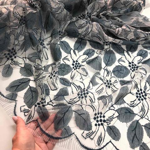 Кружевное полотно RM Джинс лилия 901490-G