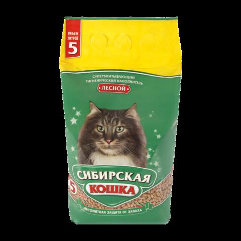 Сибирская кошка Лесной Наполнитель для туалета кошек древесный