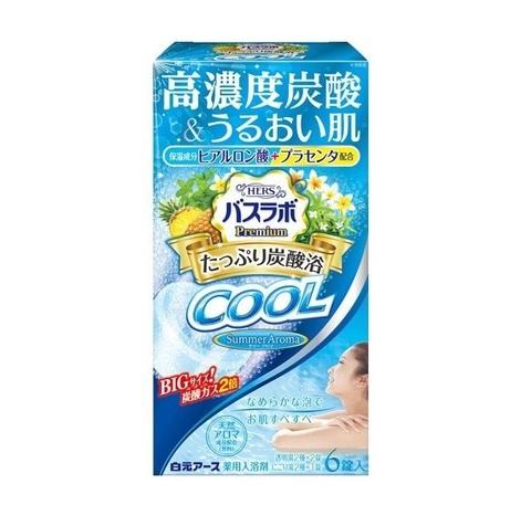 Соль для ванны освежающая с охлаждающим эффектом Hakugen Earth HERS Bath labo Premium Cool 6 табл