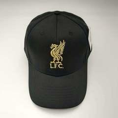 Кепка с логотипом ФК Ливерпуль (Бейсболка FC Liverpool) черная 002